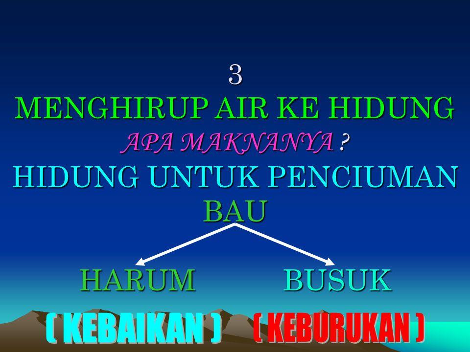 3 MENGHIRUP AIR KE HIDUNG APA MAKNANYA