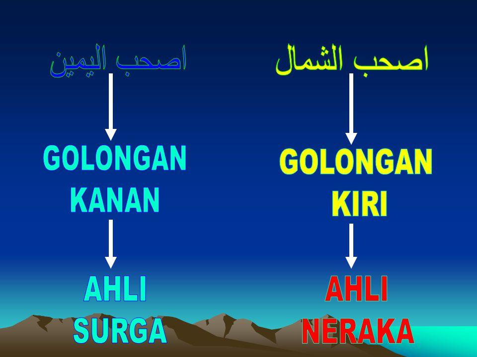 اصحب اليمين اصحب الشمال GOLONGAN KANAN GOLONGAN KIRI AHLI SURGA AHLI NERAKA