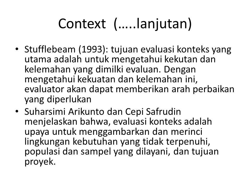 Context (…..lanjutan)