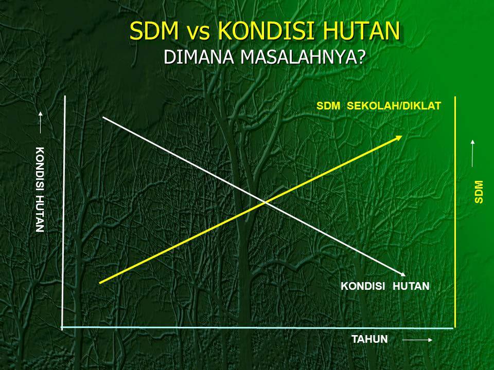 SDM vs KONDISI HUTAN DIMANA MASALAHNYA