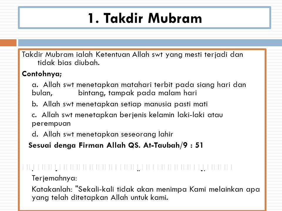 1. Takdir Mubram