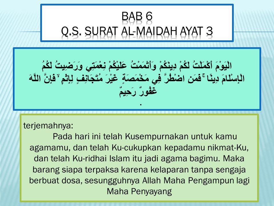 BAB 6 Q.S. Surat Al-maidah ayat 3