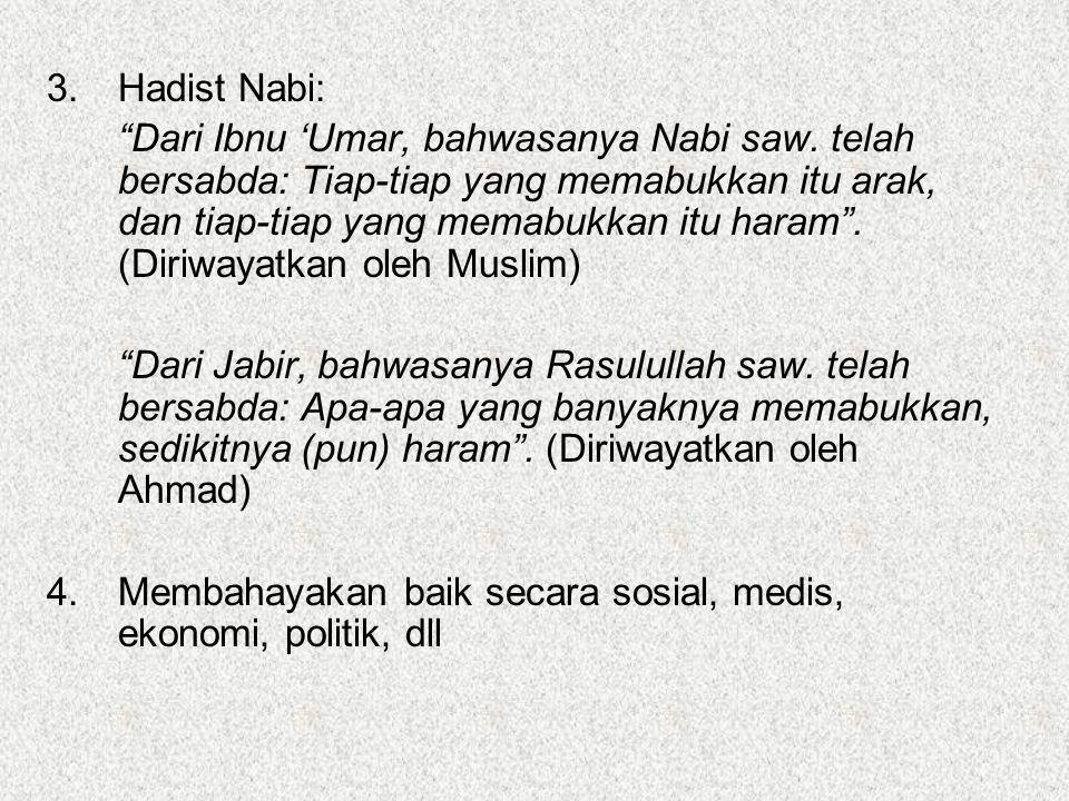 3. Hadist Nabi: