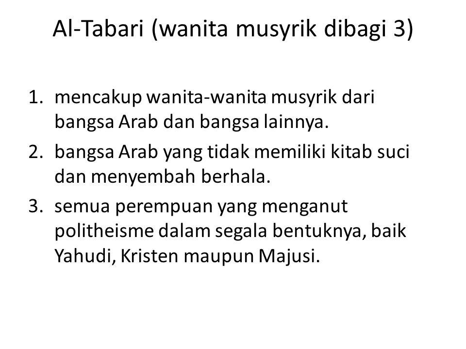 Al-Tabari (wanita musyrik dibagi 3)