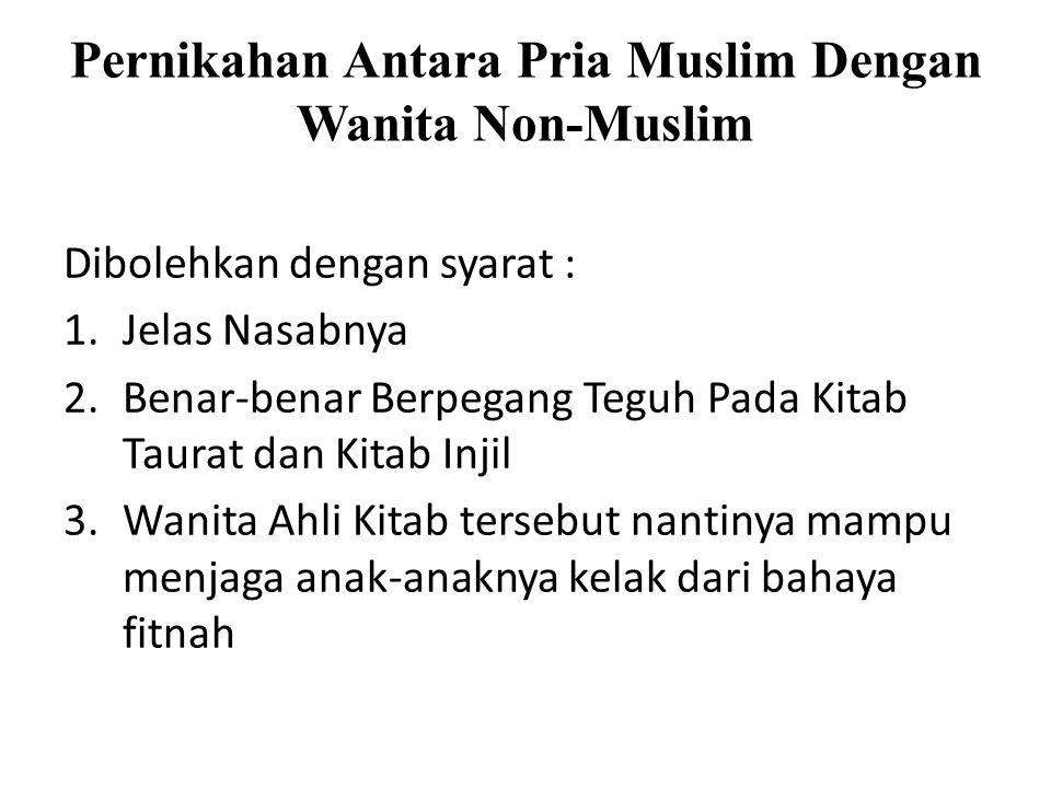 Pernikahan Antara Pria Muslim Dengan Wanita Non-Muslim