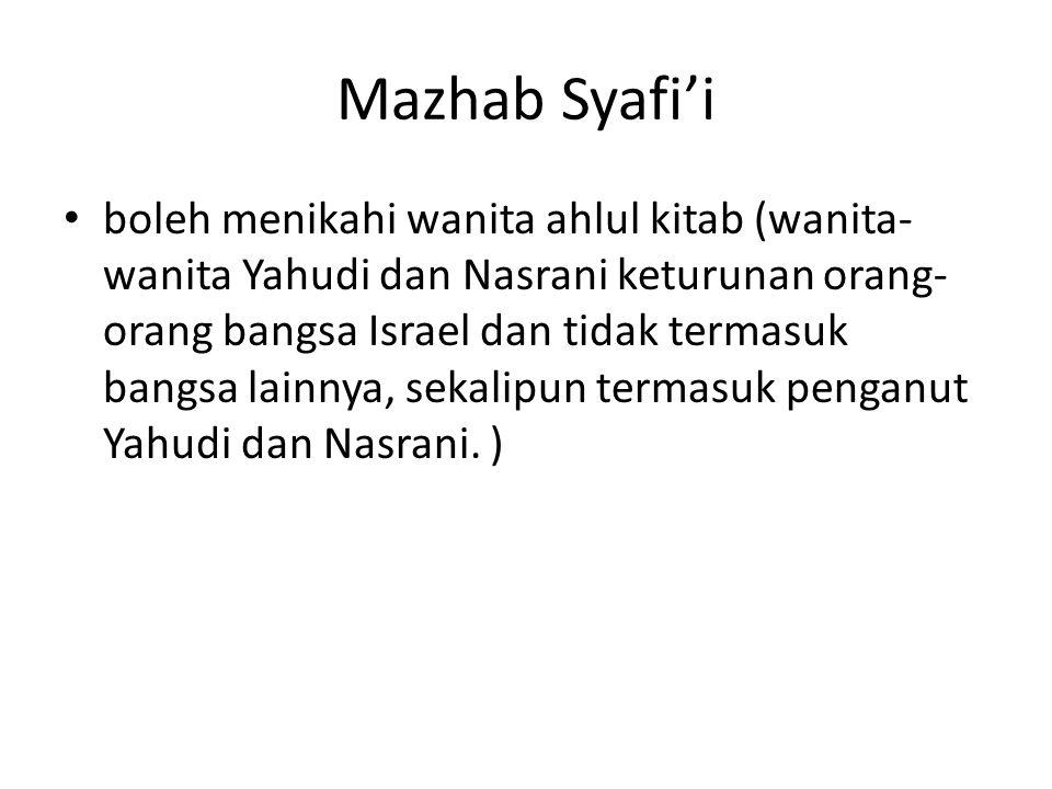 Mazhab Syafi'i