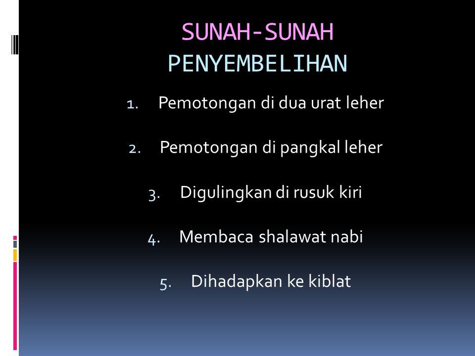 SUNAH-SUNAH PENYEMBELIHAN