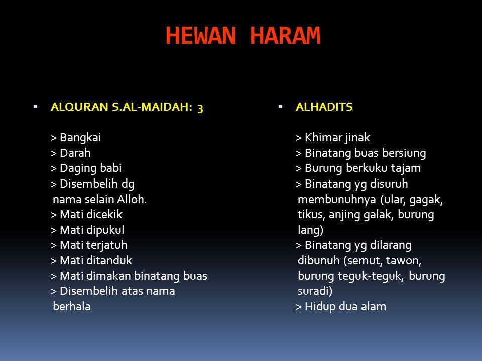 HEWAN HARAM ALQURAN S.AL-MAIDAH: 3 > Bangkai > Darah