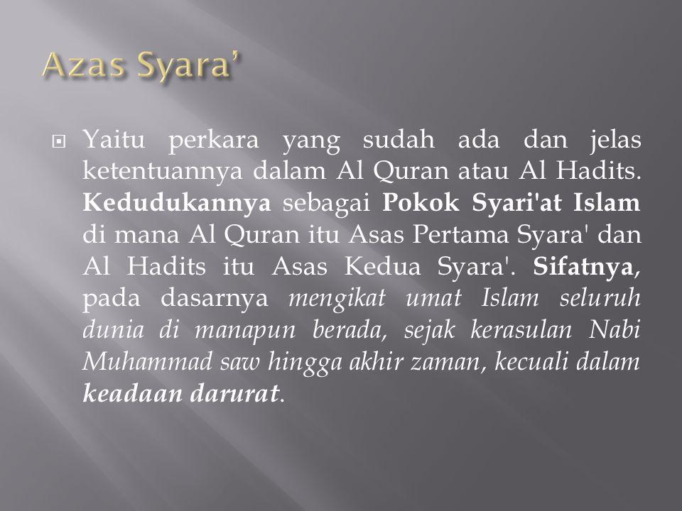 Azas Syara'