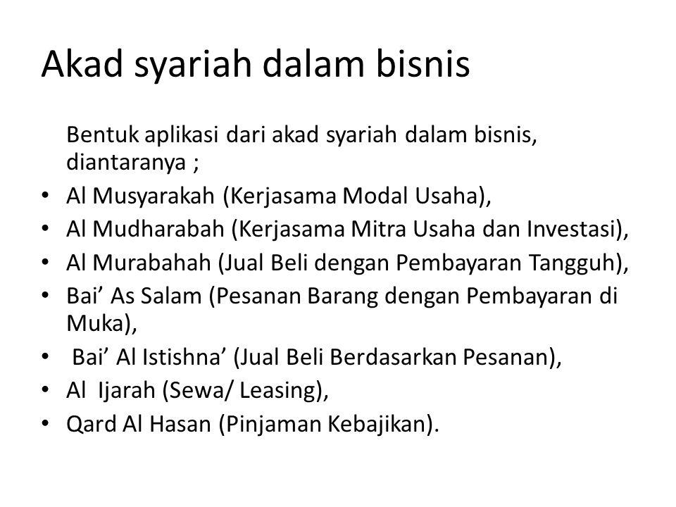Akad syariah dalam bisnis