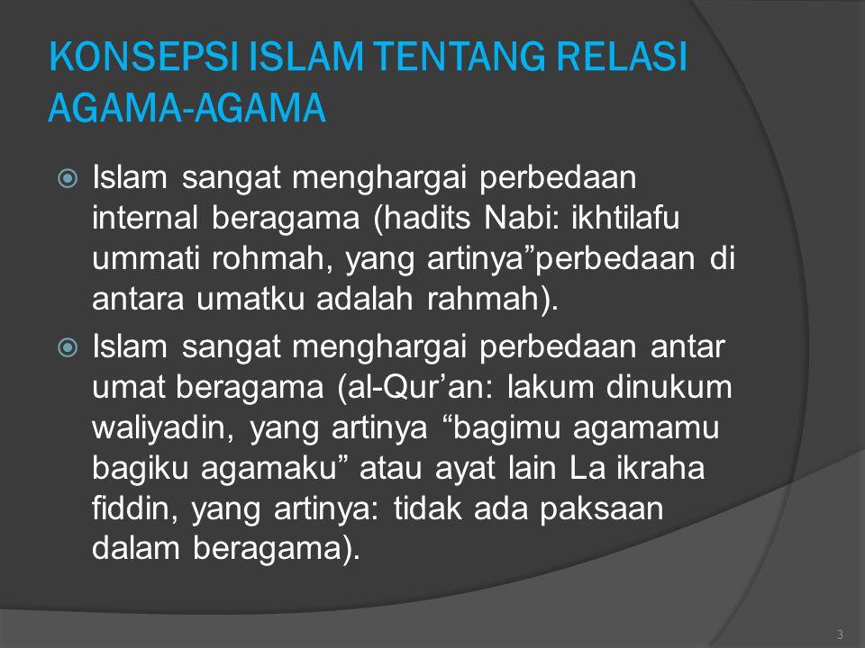 KONSEPSI ISLAM TENTANG RELASI AGAMA-AGAMA
