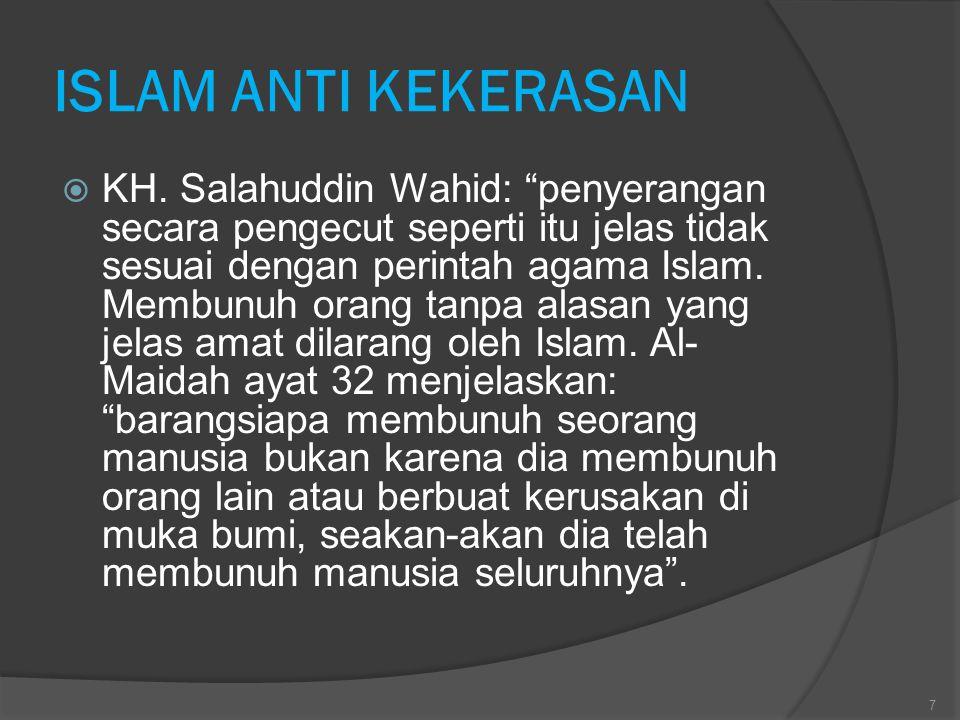 ISLAM ANTI KEKERASAN