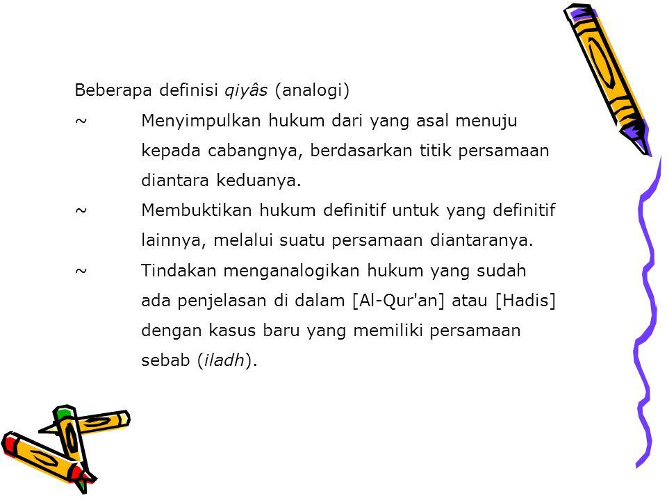 Beberapa definisi qiyâs (analogi) ~