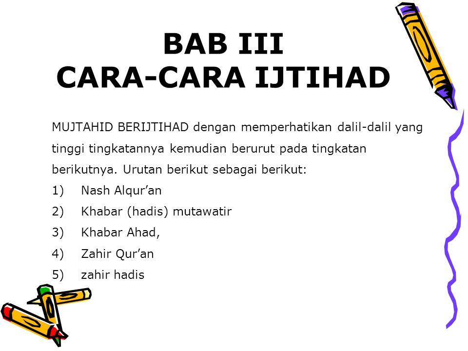 BAB III CARA-CARA IJTIHAD