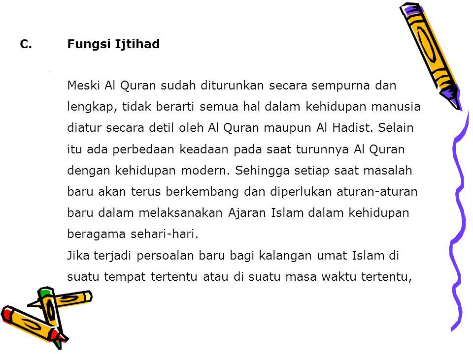 C. Fungsi Ijtihad