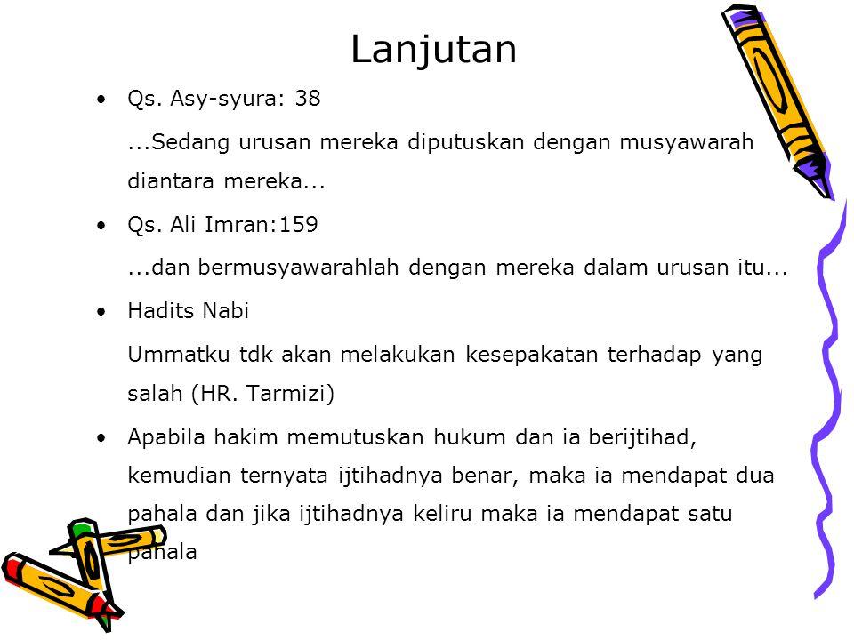 Lanjutan Qs. Asy-syura: 38