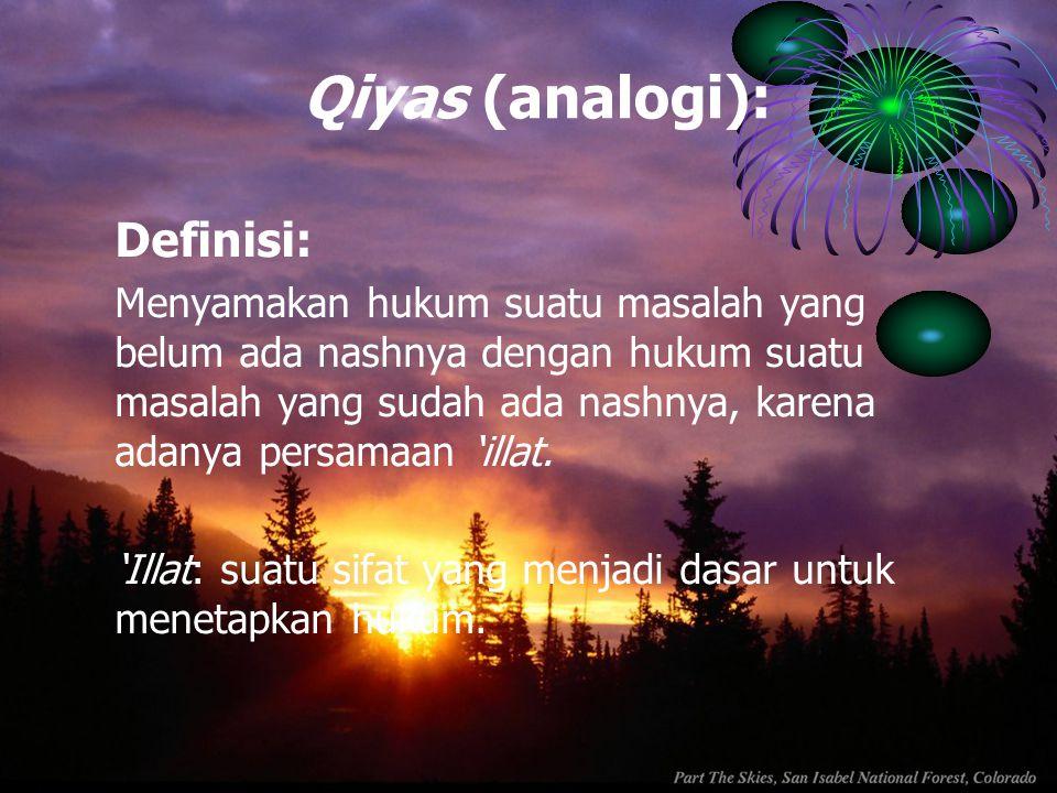 Qiyas (analogi): Definisi: