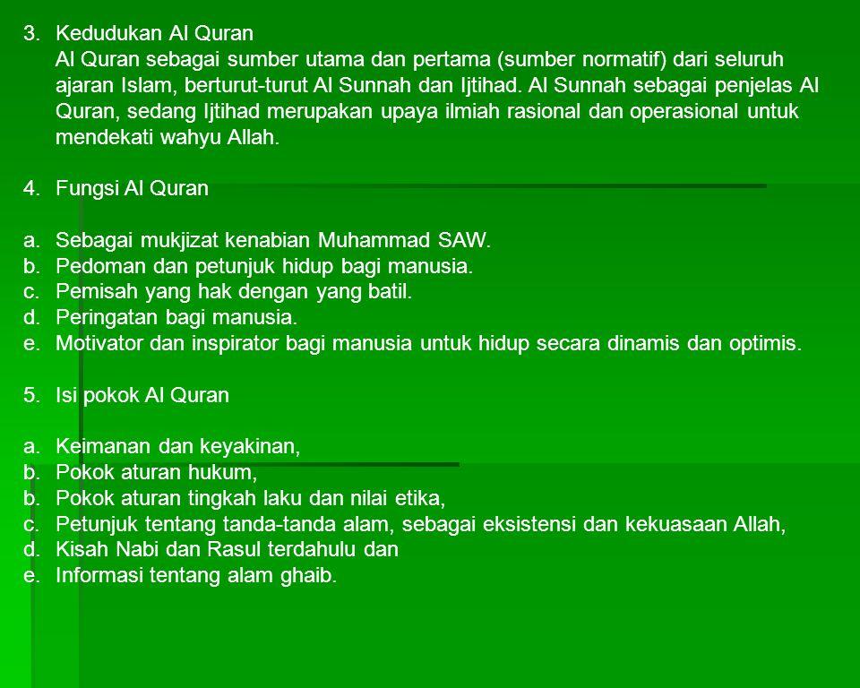 3. Kedudukan Al Quran