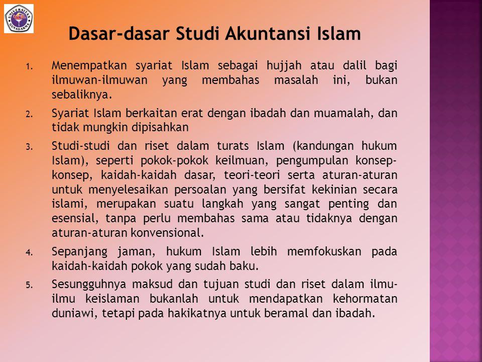 Dasar-dasar Studi Akuntansi Islam