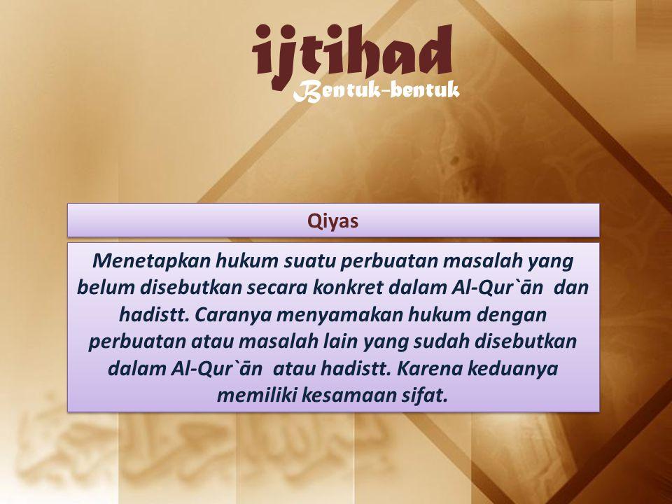 ijtihad Bentuk-bentuk Qiyas
