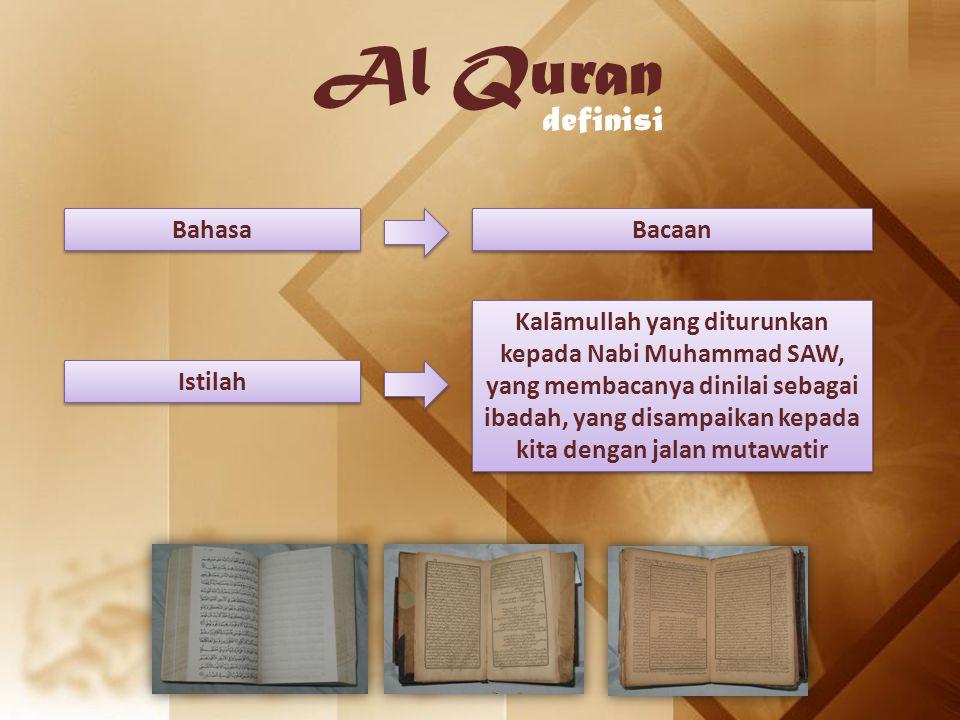 Al Quran definisi Bahasa Bacaan
