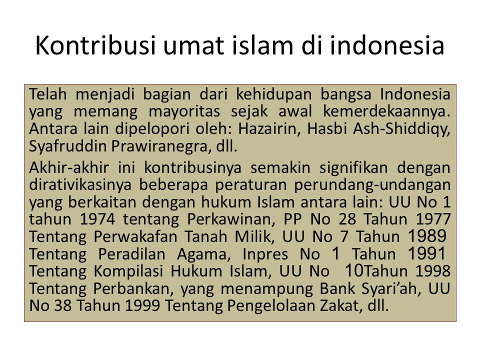 Kontribusi umat islam di indonesia