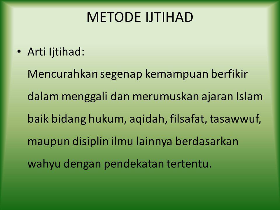 METODE IJTIHAD