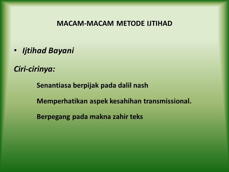MACAM-MACAM METODE IJTIHAD