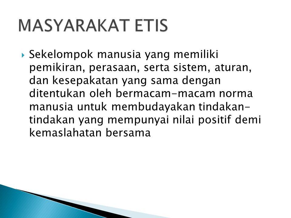 MASYARAKAT ETIS