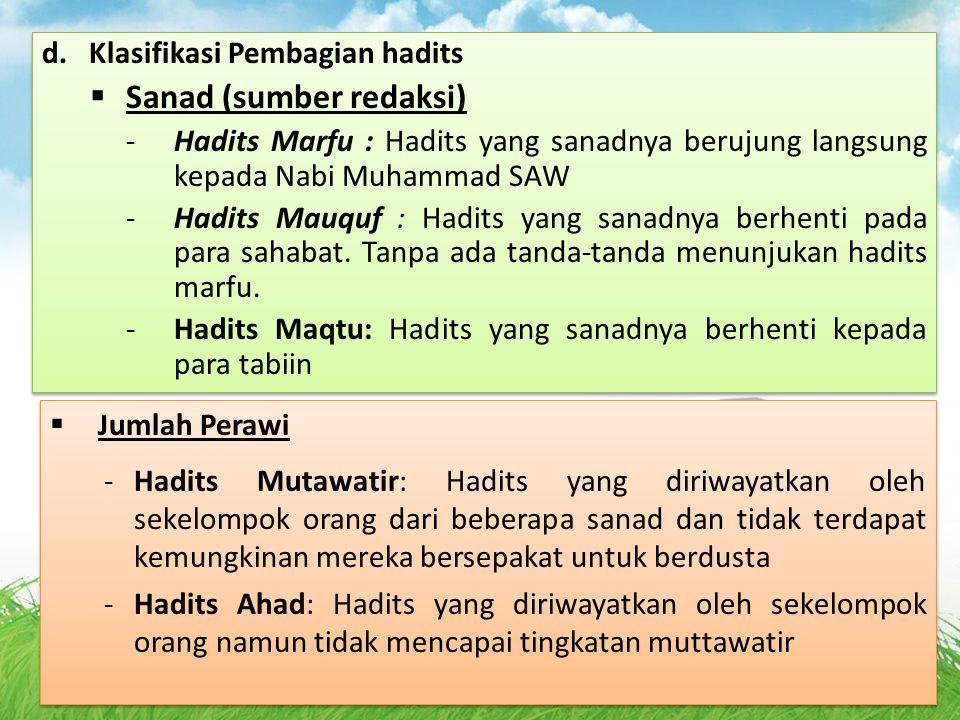 Sanad (sumber redaksi)