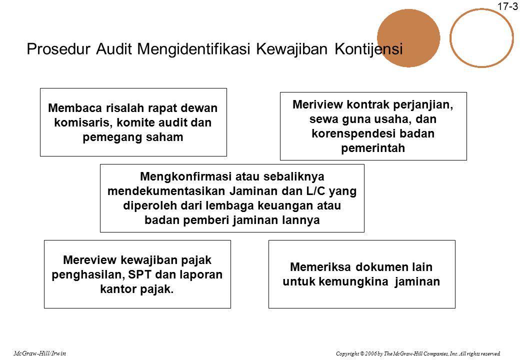 Prosedur Audit Mengidentifikasi Kewajiban Kontijensi