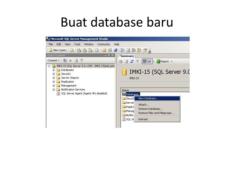 Buat database baru