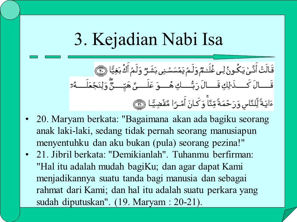 3. Kejadian Nabi Isa