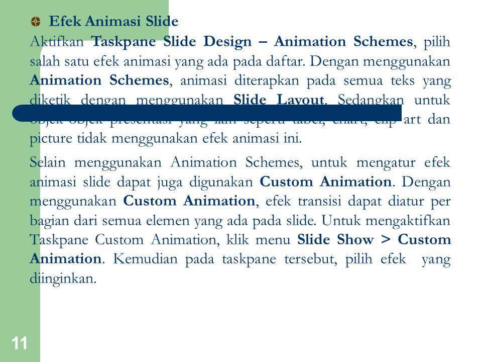 Efek Animasi Slide