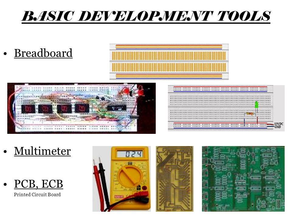 BASIC DEVELOPMENT TOOLS
