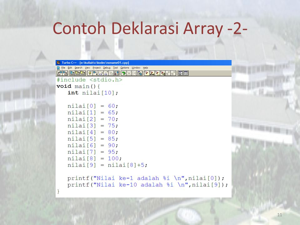 Contoh Deklarasi Array -2-