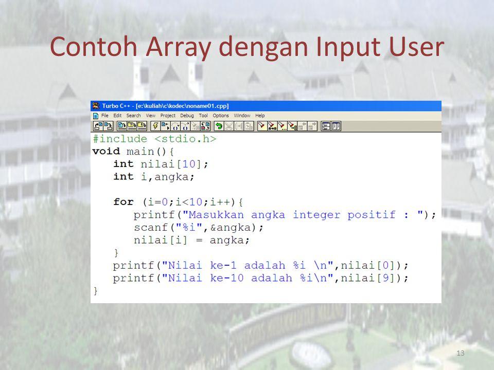Contoh Array dengan Input User
