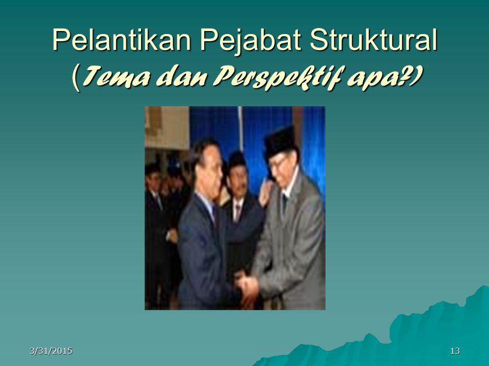 Pelantikan Pejabat Struktural (Tema dan Perspektif apa )