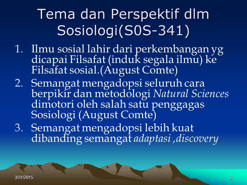 Tema dan Perspektif dlm Sosiologi(S0S-341)