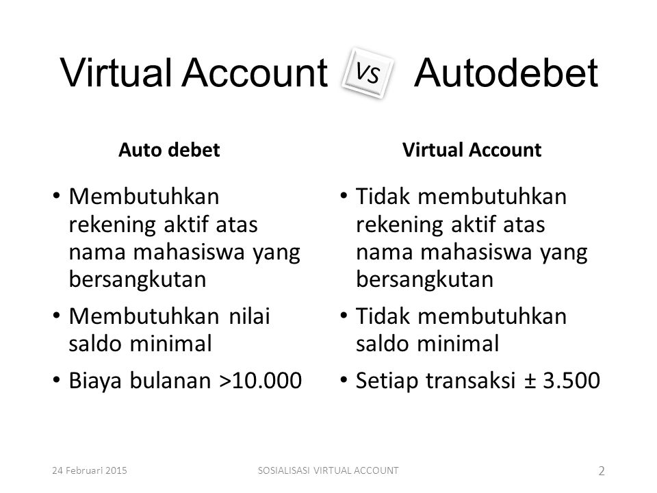 Virtual Account Autodebet