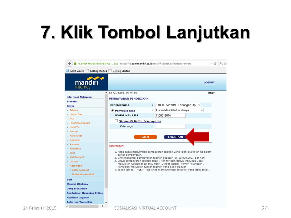 SOSIALISASI VIRTUAL ACCOUNT