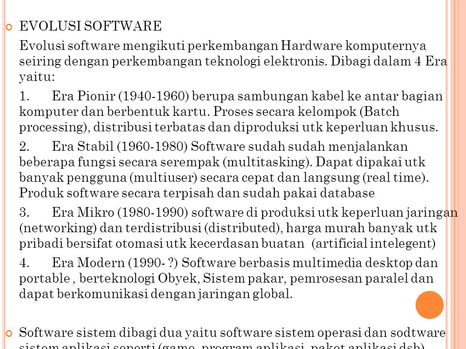 EVOLUSI SOFTWARE