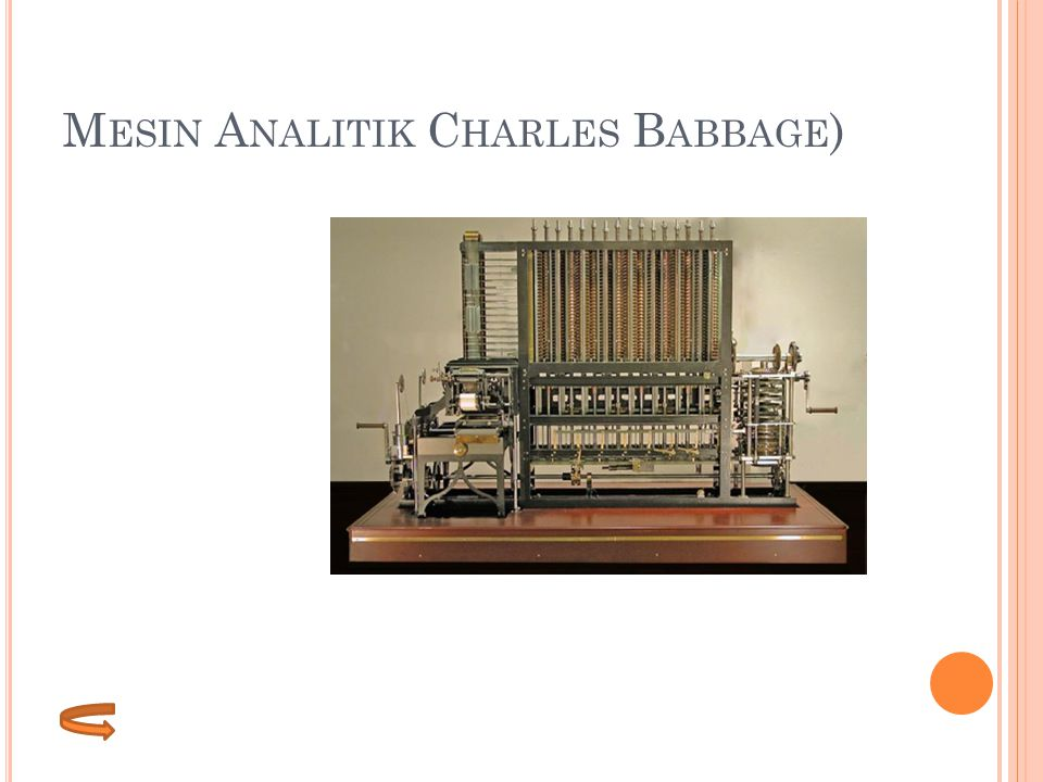 Mesin Analitik Charles Babbage)