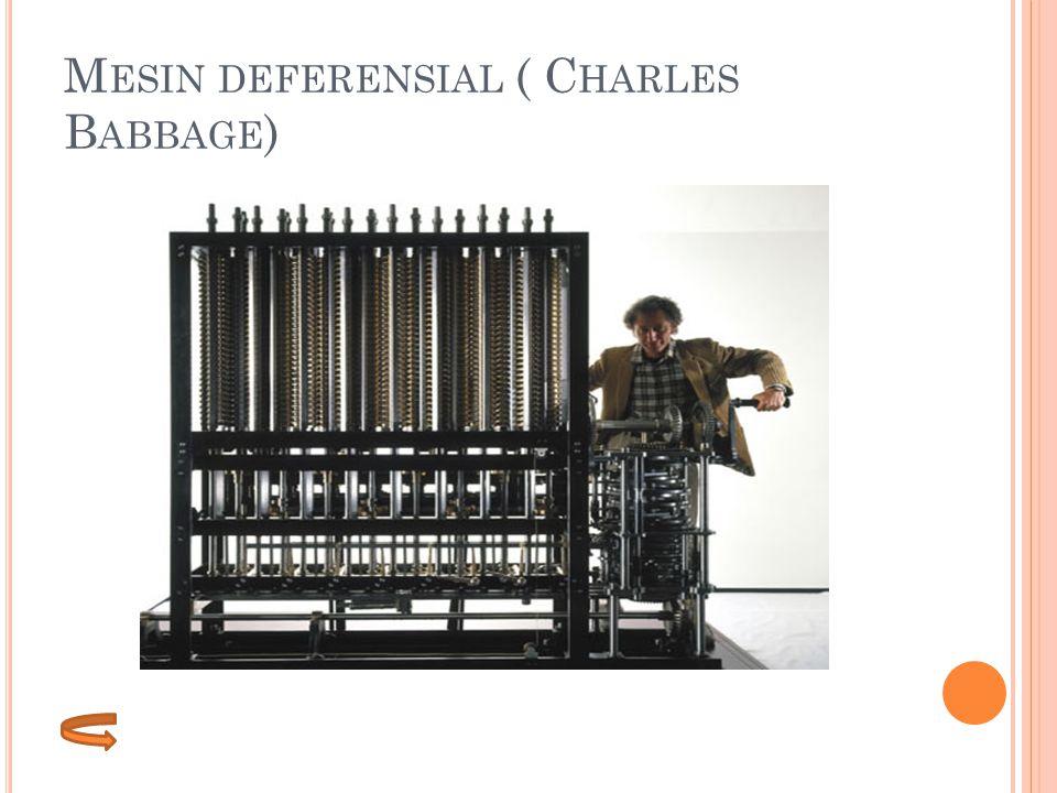 Mesin deferensial ( Charles Babbage)