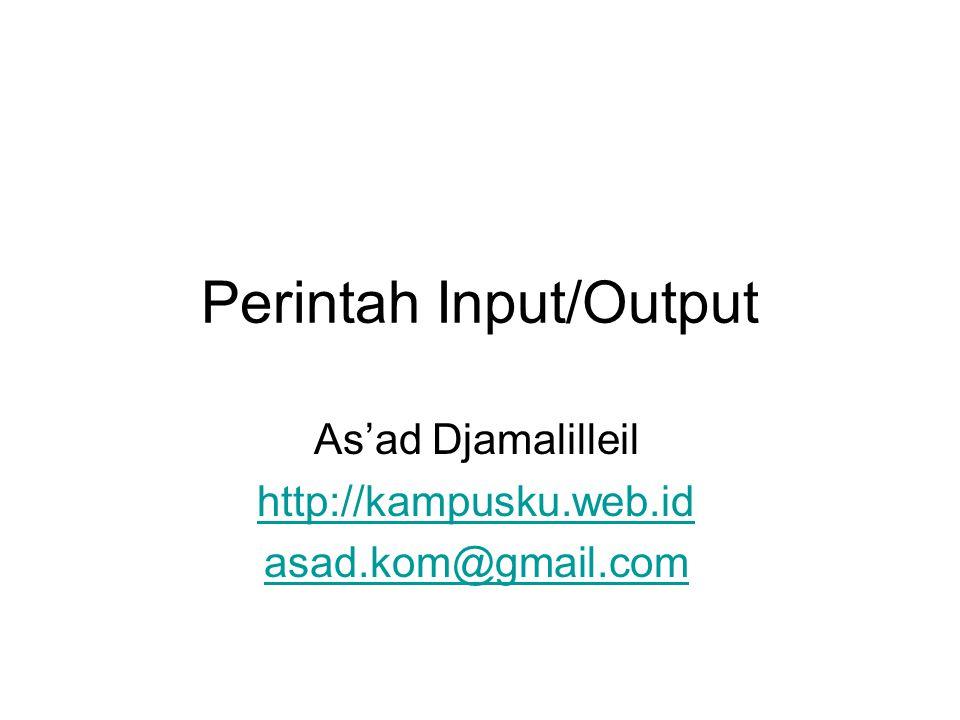 Perintah Input/Output