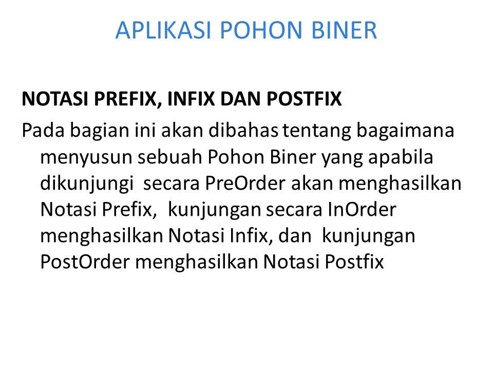 APLIKASI POHON BINER