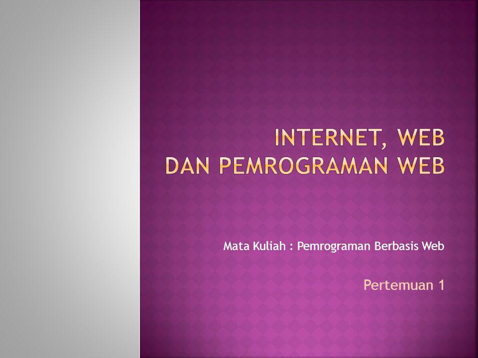 Internet, web dan pemrograman web