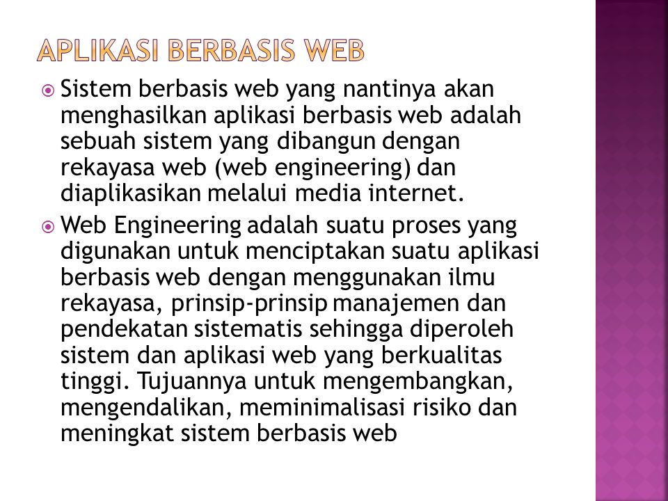 Aplikasi berbasis web
