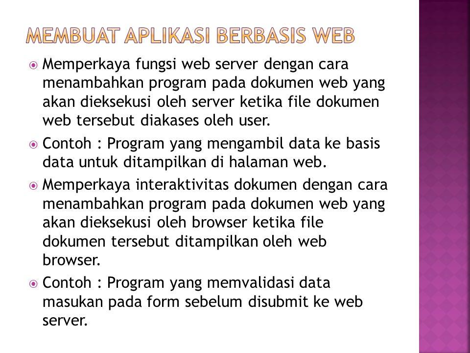 Membuat Aplikasi berbasis web