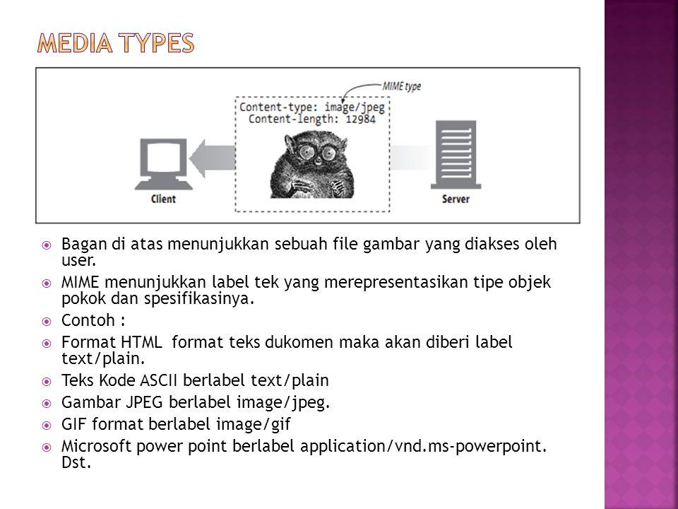 Media Types Bagan di atas menunjukkan sebuah file gambar yang diakses oleh user.